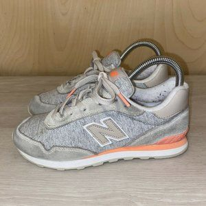 New Balance 515 KL515MFY Gray & Pink Youth US 4Y